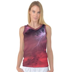 Storm Clouds And Rain Molten Iron May Be Common Occurrences Of Failed Stars Known As Brown Dwarfs Women s Basketball Tank Top