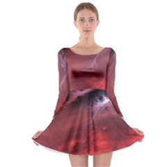 Storm Clouds And Rain Molten Iron May Be Common Occurrences Of Failed Stars Known As Brown Dwarfs Long Sleeve Skater Dress