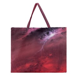 Storm Clouds And Rain Molten Iron May Be Common Occurrences Of Failed Stars Known As Brown Dwarfs Zipper Large Tote Bag
