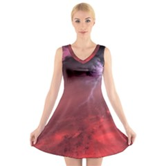 Storm Clouds And Rain Molten Iron May Be Common Occurrences Of Failed Stars Known As Brown Dwarfs V Neck Sleeveless Skater Dress