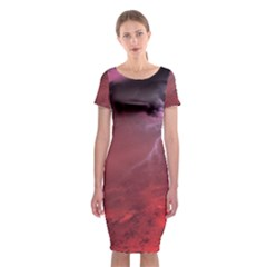 Storm Clouds And Rain Molten Iron May Be Common Occurrences Of Failed Stars Known As Brown Dwarfs Classic Short Sleeve Midi Dress