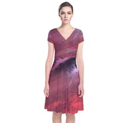 Storm Clouds And Rain Molten Iron May Be Common Occurrences Of Failed Stars Known As Brown Dwarfs Short Sleeve Front Wrap Dress