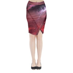 Storm Clouds And Rain Molten Iron May Be Common Occurrences Of Failed Stars Known As Brown Dwarfs Midi Wrap Pencil Skirt