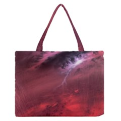 Storm Clouds And Rain Molten Iron May Be Common Occurrences Of Failed Stars Known As Brown Dwarfs Medium Zipper Tote Bag
