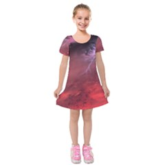Storm Clouds And Rain Molten Iron May Be Common Occurrences Of Failed Stars Known As Brown Dwarfs Kids  Short Sleeve Velvet Dress