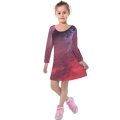 Storm Clouds And Rain Molten Iron May Be Common Occurrences Of Failed Stars Known As Brown Dwarfs Kids  Long Sleeve Velvet Dress