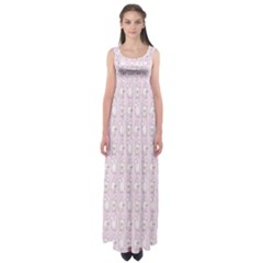 Rabbit Pink Animals Empire Waist Maxi Dress