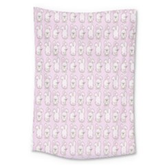 Rabbit Pink Animals Large Tapestry