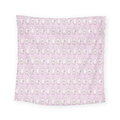 Rabbit Pink Animals Square Tapestry (small)