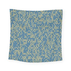 Random Blie Yellow Square Tapestry (small)