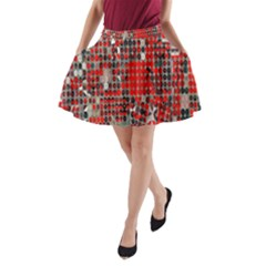 Red Circle A-Line Pocket Skirt