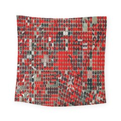 Red Circle Square Tapestry (small)