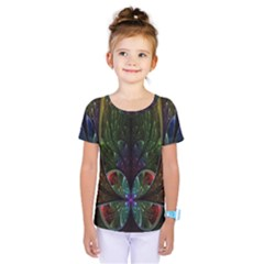 Rose Flower Floral Gold Kids  One Piece Tee