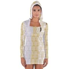 Scrapbook Digitais Estampa Arabesco Scrapbook Para Imprimir Flower Leaf Women s Long Sleeve Hooded T-shirt