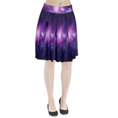 Galaxy Space Purple Pleated Skirt