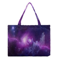Galaxy Space Purple Medium Tote Bag