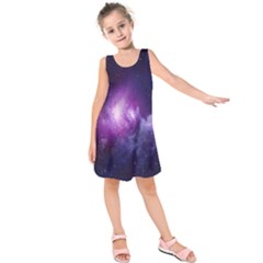Galaxy Space Purple Kids  Sleeveless Dress