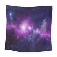 Galaxy Space Purple Square Tapestry (large)
