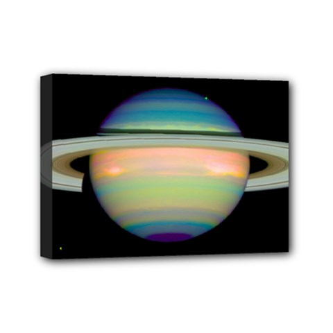 True Color Variety Of The Planet Saturn Mini Canvas 7  X 5
