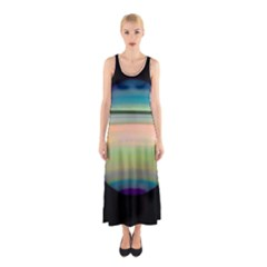 True Color Variety Of The Planet Saturn Sleeveless Maxi Dress