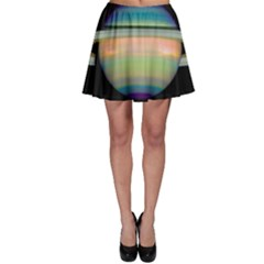 True Color Variety Of The Planet Saturn Skater Skirt