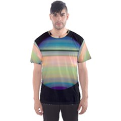 True Color Variety Of The Planet Saturn Men s Sport Mesh Tee