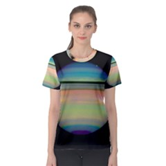 True Color Variety Of The Planet Saturn Women s Sport Mesh Tee