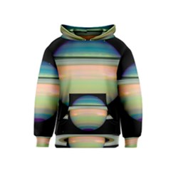 True Color Variety Of The Planet Saturn Kids  Pullover Hoodie