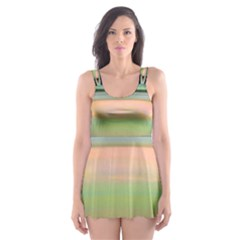 True Color Variety Of The Planet Saturn Skater Dress Swimsuit