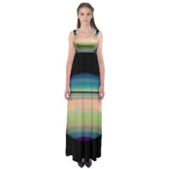 True Color Variety Of The Planet Saturn Empire Waist Maxi Dress