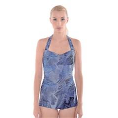 Frost Leafe Boyleg Halter Swimsuit