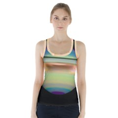 True Color Variety Of The Planet Saturn Racer Back Sports Top