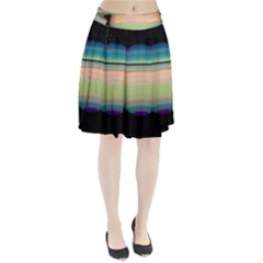 True Color Variety Of The Planet Saturn Pleated Skirt