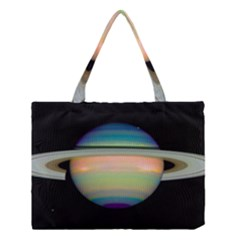 True Color Variety Of The Planet Saturn Medium Tote Bag