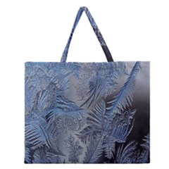 Frost Leafe Zipper Large Tote Bag
