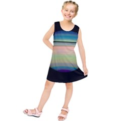 True Color Variety Of The Planet Saturn Kids  Tunic Dress