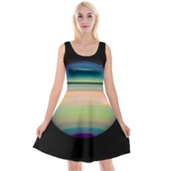 True Color Variety Of The Planet Saturn Reversible Velvet Sleeveless Dress