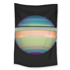 True Color Variety Of The Planet Saturn Large Tapestry