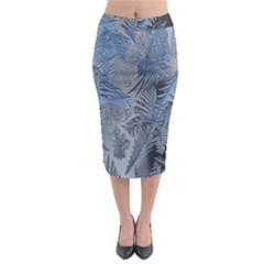 Frost Leafe Midi Pencil Skirt