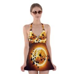 Sun Man Halter Swimsuit Dress