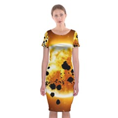 Sun Man Classic Short Sleeve Midi Dress