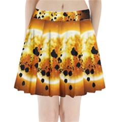 Sun Man Pleated Mini Skirt