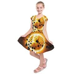 Sun Man Kids  Short Sleeve Dress
