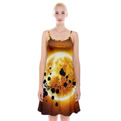 Sun Man Spaghetti Strap Velvet Dress
