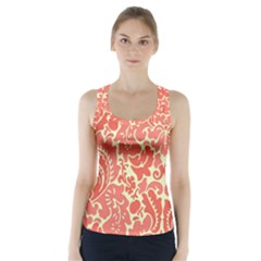 Red Floral Racer Back Sports Top