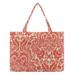 Red Floral Medium Tote Bag
