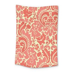Red Floral Small Tapestry