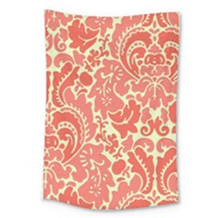 Red Floral Large Tapestry