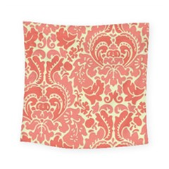 Red Floral Square Tapestry (small)