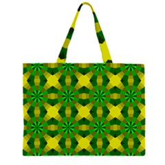 Background Colour Circle Yellow Green Large Tote Bag
